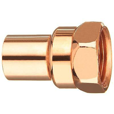 "1/2"" x 3/8"" CxF Copper Adapter Sweat x FIP Thread Plumbing Reducer Fitting"