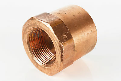 "1"" x 3/4"" CxF Copper Adapter Sweat x FIP Thread Plumbing Reducer Fitting"