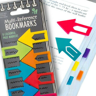 8 ARROW REFERENCE BOOKMARKS / School Stationery Office Accessory Clip On Marker