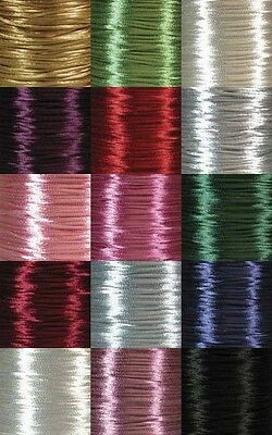 5 Metres 2MM Rattail Satin Cord Kumihimo Craft