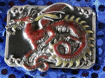 Dragon Country and Western Cowboy Belt Buckle Collector's Item ..made in America
