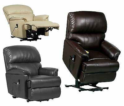 Leather Electric Rise and Recliner mobility Chair Riser Recline lift armchair