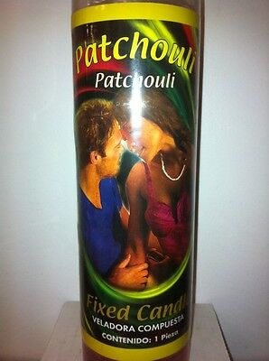 Patchouli Love Prepared 7 Day Scented Pink Candle In Glass ( Amor Patchouli )