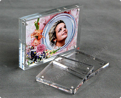 A5 Premium Magnetic Clear Acrylic Photo Frame / Perspex Picture Holder