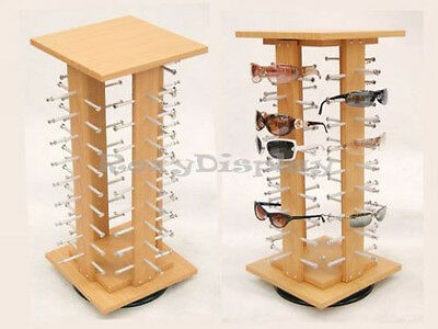 Sunglasses Racks Display Stand Case Square  Wooden Spinning Rack #SU-MZ5050-4