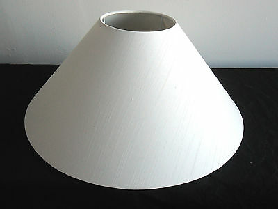 "Hand Made 16"" White Satin Backed Duppion Coolie Lampshade"