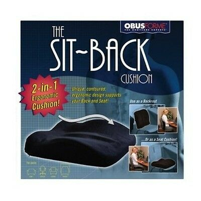 Obusforme Sit-Back Cushion  New & Free Shipping.