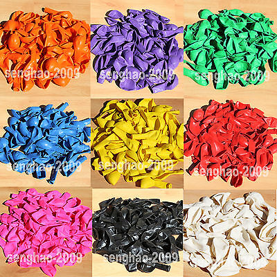 BULK-72X  LATEX  STANDARD  BALLOONS Party  Wedding Air/HeliumQuality 10 Colours