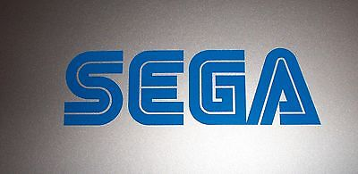 "SEGA Sticker Decal Logo - BLUE, WHITE, or BLACK 2.5"" 4"" 6"" 8"""
