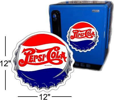 "12""  Pepsi Cap For Soda Pop Vending Machine Cooler Or Gumball"