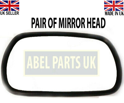 Jcb Parts 3Cx - Mirror Head Pair (Curved Glass) Part No.123/04970 Or 331/63982
