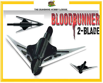 3 X Broadheads NAP Bloodrunner 2 Blade 100 Grain Broad Head For Archery Bows NEW