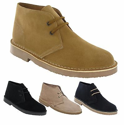 Mens Suede Leather Desert Boots / Shoes 3 - 12