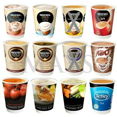 32 x 12OZ INCUP HOT DRINKS FOR NESCAFE & AND GO MACHINE COFFEE TEA SOUPS AERO