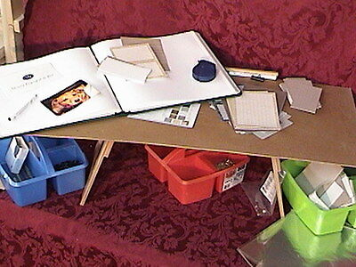 Scrapbooking Rubber Stamping Crafting Beading TV Tray Table Holder TV Lap Stand