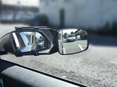 Car E Marked Caravan, Trailer & Towing Convex Glass Safety Wing Mirror Extension
