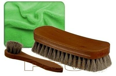 Genuine 100% Horse Hair Shoe Boot Brush Dauber Non Scratch For Designer Shoes