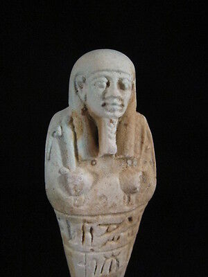 Exceptional ancient Egyptian faience ushabti / shabti - late period