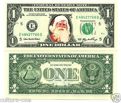 LE PERE NOËL VRAI BILLET de 1 DOLLAR !! IDEE CADEAU ORIGINALE - Collection us C