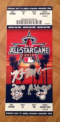 Brian McCann Braves Signed Autographed 2010 All-Star Game Ticket PROOF COA