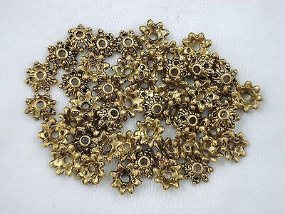 Bead Caps 9x3mm Gold Pack of 50 Findings Jewellery Flower Bell  FREE POSTAGE