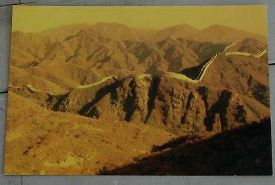 Vintage Color Photo Postcard, Dawn Over The Great Wall, VG COND