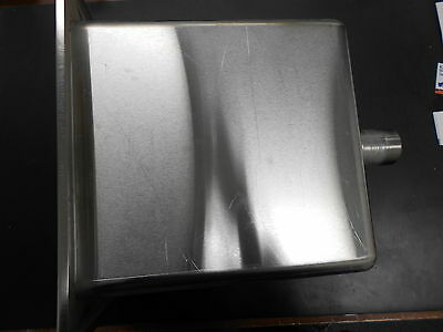 "Stainless Steel Process Sink  Coved Corner  11""x 6"" x 12"" deep     3.0 gallons"