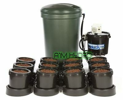 IWS Flood And Drain Basic 12 Pot Complete System With Tank Hydroponics