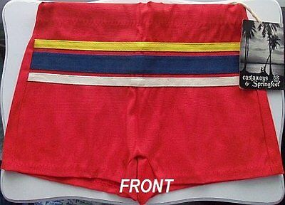 NOS Vintage Boys Swimsuit Trunks Castaways Springfoot Size Large Tag New