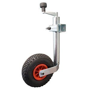 Trailer/Caravan Corrosion Resistance 48mm Pneumatic Telescopic Jockey Wheel - 99
