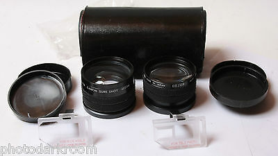 Dejur Auxiliary Lens Set Tele Wide for Canon Sure Shot AF35 Good Glass USED D40