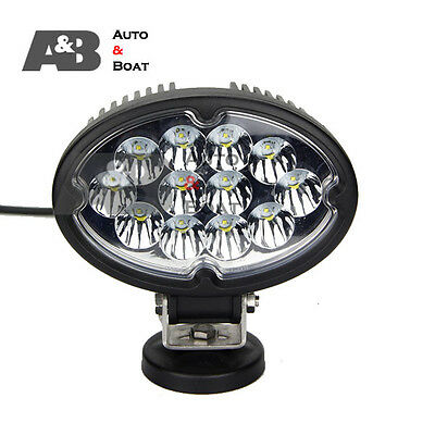 2x 7 INCH 36W 12 CREE LED WORK LIGHT FLOOD OFF ROADS LAMP - TRUCK BOAT 4WD 9-32V
