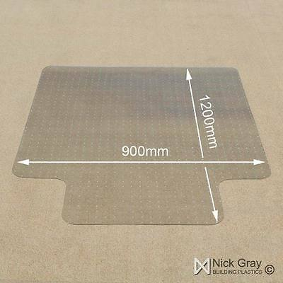 Clear Hard Floor Protecter Chair Mat 900 x 1200 Ideal For Home And Office