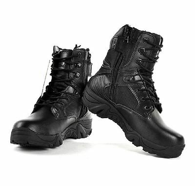 Ywing Men's HCW516C Side Zip Security/Police Tactical Leather Boots