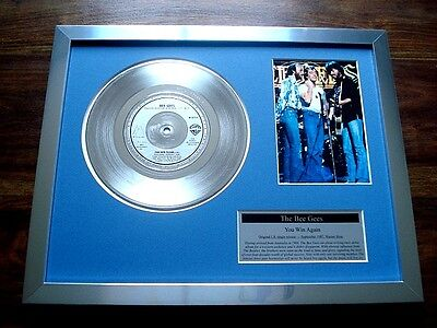 "The Bee Gees You Win Again Platinum Disc 7"" Single Record Award Barry Gibb"