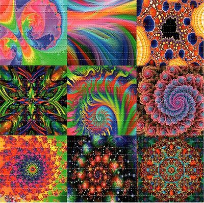 FRACTALS X9 -  BLOTTER ART perforated psychedelic