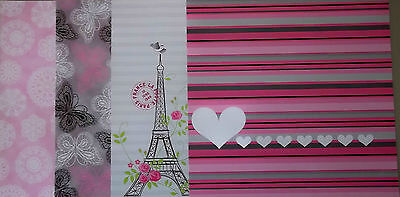 """*CHANTILLY* Scrapbooking Papers x 16  *FRANCE* theme  -  12"""" x 12"""" (30cm x 30cm)"""