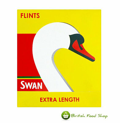 18 Swan Extra Length Lighter Flints Uk Freepost - Worldwide Delivery