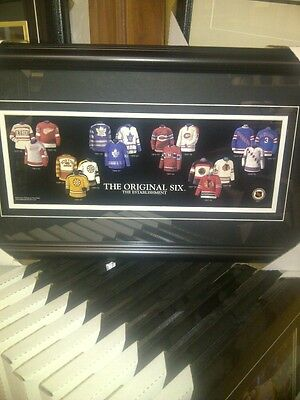 The Original Six NHL Hockey Museum framed The Establishment Poster Rare