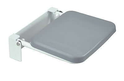 Wall mounted folding fold down shower seat chair with padded seat