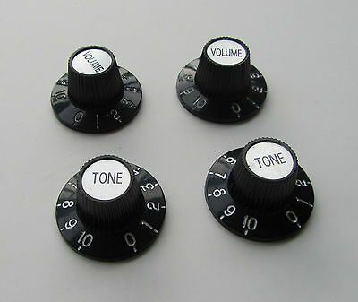 Black W/ Silver Witch Hat Knobs Guitar Knobs for LP Epiphone SG