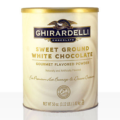GHIRARDELLI Sweet Ground Chocolate White 1,42kg weisse Trinkschokolade