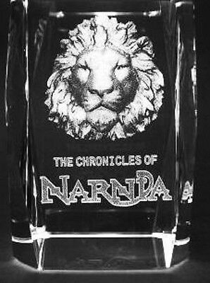 3D CHRONICLES OF NARNIA 3 Inch Laser Crystal w/ Light Base