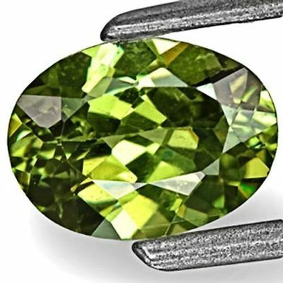 0.83-Carat Deep Yellow Green Eye-Clean Namibian Demantoid Garnet