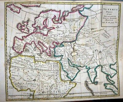 1740 Schmidt Bible Atlas 15 HOMANN ENGRAVED MAPS Scholarly Historic Cartography!
