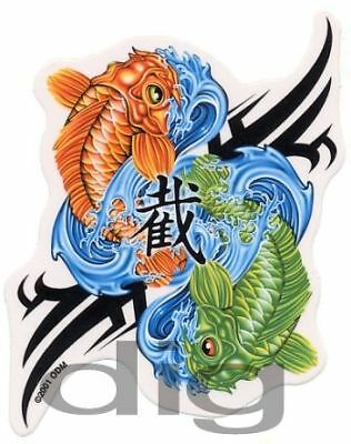 Pisces KOI FISH Astrology YIN YANG Symbol RARE DISCONTINUED Sticker ASIAN Decal