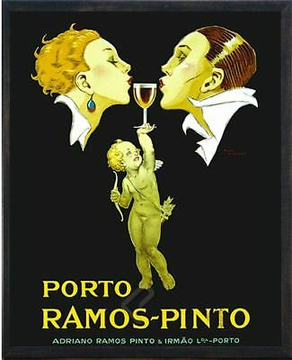 Wine Porto Ramos-Pinto by R.Vincent Poster Black Frame