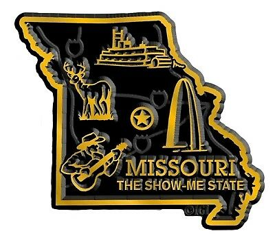 Missouri the Show Me State Map Fridge Magnet