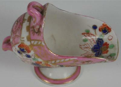 Occupied Japan Decoration Pink Flowers Small Porcelain Scoop Hakutosha Handle