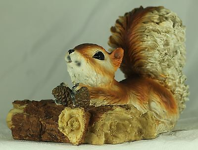 FLOATING RED SQUIRREL on a Log, Ideal Gift for Pond, Garden or Shed!